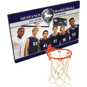 BBP20 - 16 inches x 10 inches Sublimatable Basketball Plaque with Metal Hoop