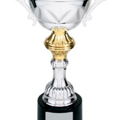 CMC202S Silver Metal Corporate Cup Trophy on a Black Marble Base
