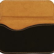 GFT244 Black Leatherette Flexible Business Card Holder
