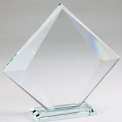 CE1107   Crystal Edge Diamond On Glass Base, Large