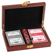 CRD01  Rosewood Finish Card & Dice Set CRD01