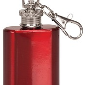 FSK103  1 oz. Gloss Red Stainless Steel Flask Keychain