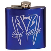 FSK604  6 oz. Gloss Blue Stainless Steel Flask