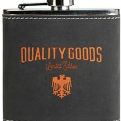 FSK612  Dark Gray/Orange Textured Stainless Steel Flask