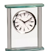 GCK003  Square Glass Clock with Top