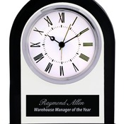 GCK101  Arch Glass Clock with Black Border