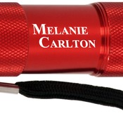 GFT076  Red 9-LED Flashlight with Strap
