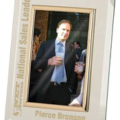 GMF146G  Glass Mirror Picture Frame with Gold Trim
