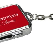 MEM008RD  4GB Red Metal USB Flash Drive Keychain