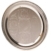 PC4010  Silver Plated Tray, 10""