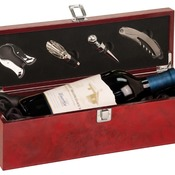 WBX15  Burlwood High Gloss Finish Single Wine Box with Tools