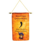SBL044  1-Sided Banner with Wooden Pole, Spear Tip & Cord