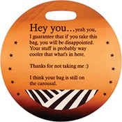UN5507  2-Sided gloss FRP Round Bag Tag