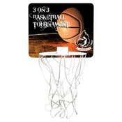 UN5548  Gloss Hardboard Mini-Basketball Hoop with White Netting & Plastic Rim