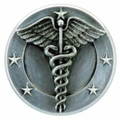 PM120 -  Resin Plaque Mounts Caduceus