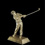 50622-G  -GOLFER RESIN FIGURE FEMALE 7 3/4""