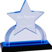 "IMP113BU - 7 1/4"" Blue Carved Star Impress Acrylic"