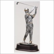 RF2053SG  RESIN GOLFER MALE WITH CAP AND GOLD TRIM 12""