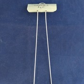 "SIGN STAKE, galvanized steel wire, 12"", for mounting small signs in the ground"