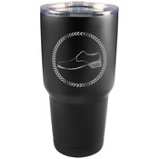 LTM932 30 oz. Black Polar Camel Stainless Steel Vacuum Insulated Tumbler
