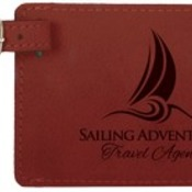 GFT370 Rose Leatherette Luggage Tag