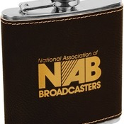 FSK617 6 oz. Black Leatherette Flask