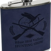 FSK620 6 oz. Blue Leatherette Flask