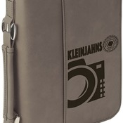 "GFT413  6 3/4"" x 9 1/4"" Gray Leatherette Book/Bible Cover with Zipper & Handle"