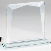 Crystal Edge Faceted On Glass Base, Small CE1163