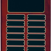 RPP12   Rosewood Piano Finish Perpetual Plaque with 12 Plates