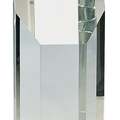 "8"" Clear Crystal Octagon Tower"