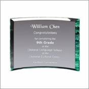 "Curved Glass Plaque 7""X9"""