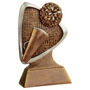 "TRD104 5-1/2"" Triad Resin Cheer Trophy"