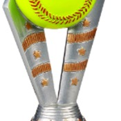 "FFR105  6-1/2"" Fanfare Resin Softball Trophy"