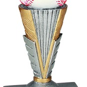 "ZNR101 6"" Zenith Resin Baseball Trophy"