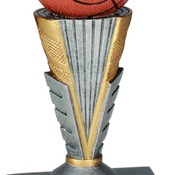 "ZNR102  6"" Zenith Resin Basketball Trophy"