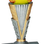 "ZNR105   6"" Zenith Resin Softball Trophy"