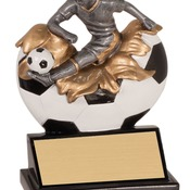 "XP108   5-1/4"" Xploding Resin Male Soccer Trophy"