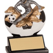 "XP109   5-1/4"" Xploding Resin Female Soccer Trophy"