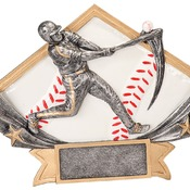 "DSR51   8-1/2"" X 5-3/4"" Diamond Star Resin Baseball Trophy"