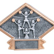 "6"" X 4-1/2"" Diamond Plate Resin Small Cheer Trophy"