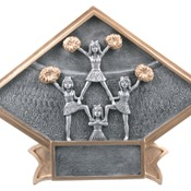 "6"" X 4-1/2"" Diamond Plate Resin Large Cheer Trophy"