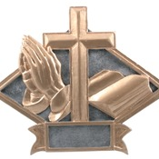 "DPS21   6"" X 4-1/2"" Diamond Plate Resin Large Religious Trophy"