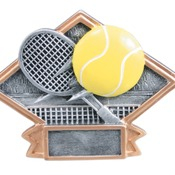 "DPS73   6"" X 4-1/2"" Diamond Plate Resin Small Tennis Trophy"