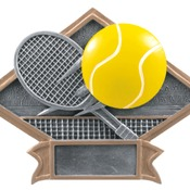 "DPS23   6"" X 4-1/2"" Diamond Plate Resin Large Tennis Trophy"