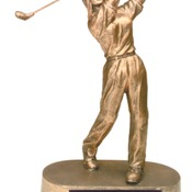"JDS44   9"" Female Golf Resin Trophy"