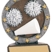 "4-1/2"" All Star Resin Cheer Trophy"