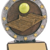 "R612   4-1/2"" All Star Resin Tennis Trophy"