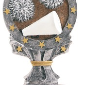 "R668   6-1/4"" All Start Resin Cheer Trophy"