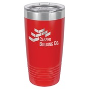 LTM7203-Polar Camel 20 oz. Red Ringneck Vacuum Insulated Tumbler w/Clear Lid